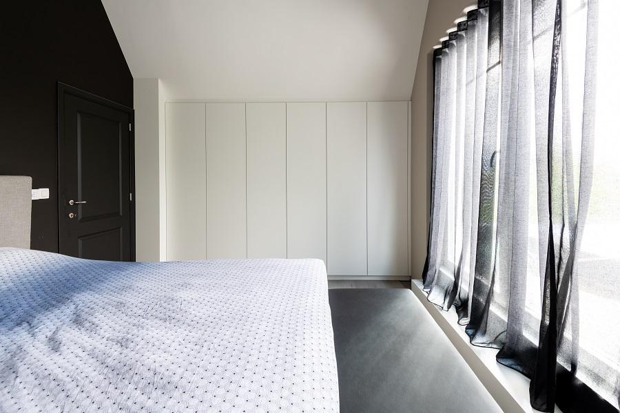 Slaapkamer Landelijk Kast Op Maat Onder Schuine Hoek Maes