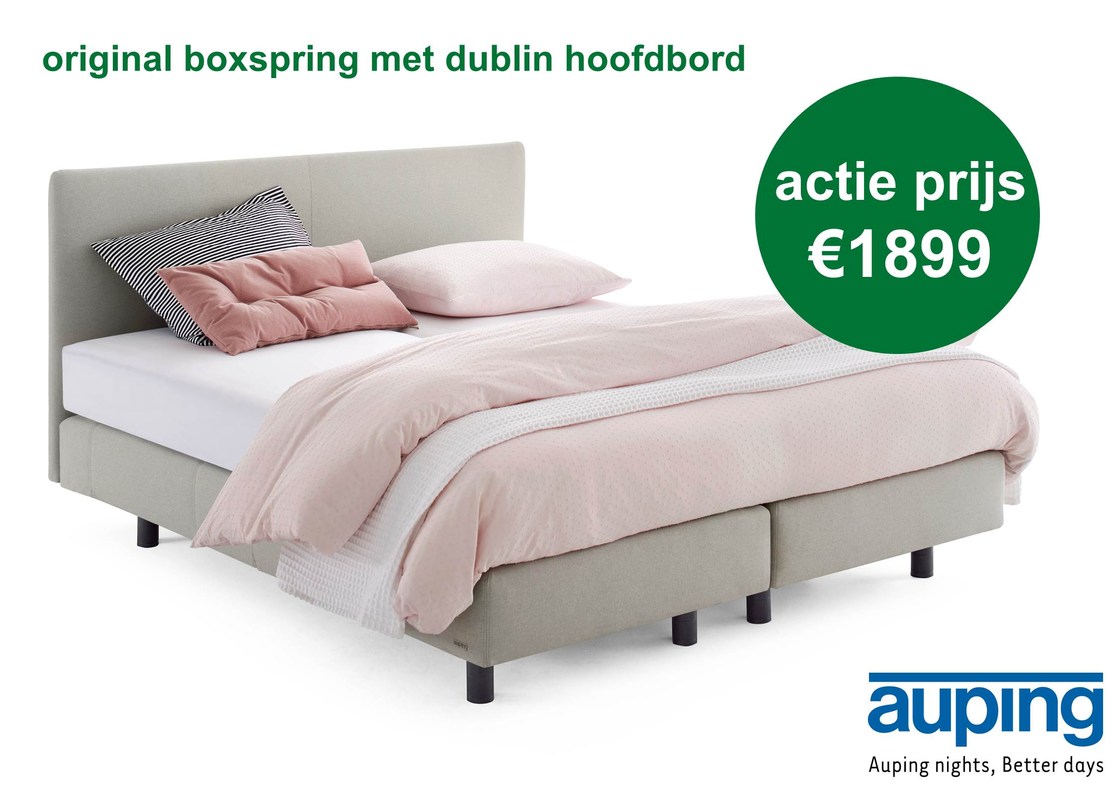 Auping Royal Hoofdbord.Auping Boxspring Matras