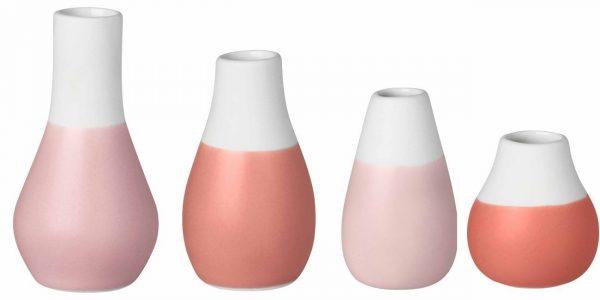 Mini pastel vase rose