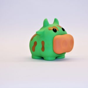 spaarpot groen koe