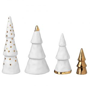 räder witte kerstboompjes
