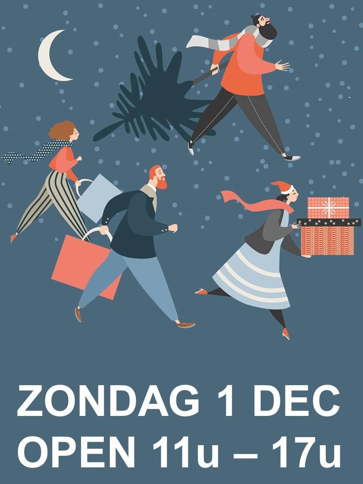 eindejaarsactie, koopzondag, zondag open, kerst, december , unizo, comeos, maes-boons, weekend, markant